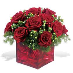 Tekirdağ çiçekçi telefonları  9 adet kirmizi gül cam yada mika vazoda
