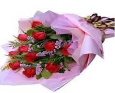 11 adet kirmizi güllerden görsel buket  Tekirdağ çiçek gönderme