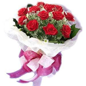 Tekirdağ ucuz çiçek gönder  11 adet kırmızı güllerden buket modeli