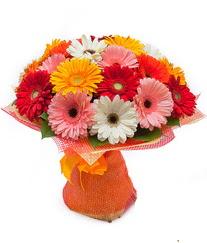 Renkli gerbera buketi  Tekirdağ çiçek online çiçek siparişi