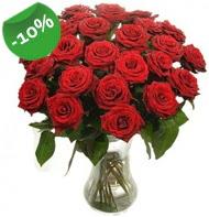 Vazo içerisinde 25 adet kırmızı gül  Tekirdağ uluslararası çiçek gönderme