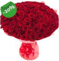 Özel mi Özel buket 101 adet kırmızı gül  Tekirdağ çiçek online çiçek siparişi