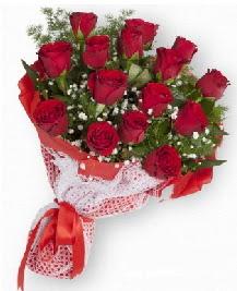 11 kırmızı gülden buket  Tekirdağ online çiçekçi , çiçek siparişi