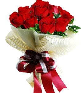 9 adet kırmızı gülden buket tanzimi  Tekirdağ çiçek gönderme