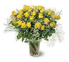 Tekirdağ çiçekçiler  15 adet sarigül mika yada cam vazoda