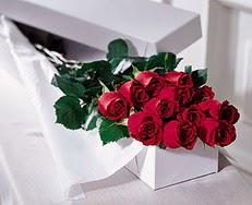 Tekirdağ ucuz çiçek gönder  özel kutuda 12 adet gül