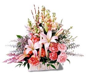 Tekirdağ çiçekçiler  mevsim çiçekleri sepeti özel tanzim