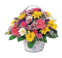 Tekirdağ hediye çiçek yolla  mevsim çiçekleri sepeti özel