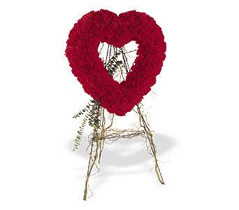 Tekirdağ internetten çiçek siparişi  karanfillerden kalp pano