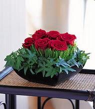 Tekirdağ çiçekçiler  10 adet kare mika yada cam vazoda gül tanzim
