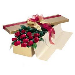 Tekirdağ 14 şubat sevgililer günü çiçek  10 adet kutu özel kutu
