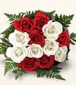 Tekirdağ hediye çiçek yolla  10 adet kirmizi beyaz güller - anneler günü için ideal seçimdir -