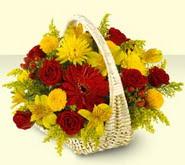 Tekirdağ hediye sevgilime hediye çiçek  sepette mevsim çiçekleri
