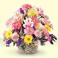 Tekirdağ anneler günü çiçek yolla  sepet içerisinde gül ve mevsim