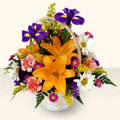 Tekirdağ hediye sevgilime hediye çiçek  sepet içinde karisik çiçekler