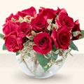 Tekirdağ çiçek mağazası , çiçekçi adresleri  mika yada cam içerisinde 10 gül - sevenler için ideal seçim -