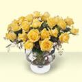 Tekirdağ çiçek , çiçekçi , çiçekçilik  11 adet sari gül cam yada mika vazo içinde