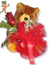 oyuncak ayi ve gül tanzim  Tekirdağ çiçek siparişi vermek