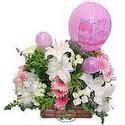balon ve çiçeklerle tanzim  Tekirdağ internetten çiçek siparişi