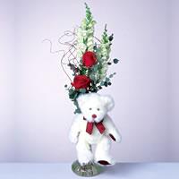 2 adet gül ve panda özel  Tekirdağ internetten çiçek satışı