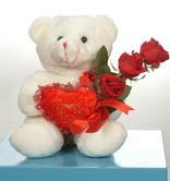 3 adetgül ve oyuncak   Tekirdağ İnternetten çiçek siparişi