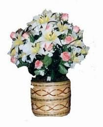 yapay karisik çiçek sepeti   Tekirdağ kaliteli taze ve ucuz çiçekler