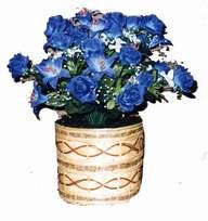 yapay mavi çiçek sepeti  Tekirdağ 14 şubat sevgililer günü çiçek