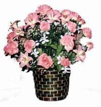 yapay karisik çiçek sepeti  Tekirdağ çiçek mağazası , çiçekçi adresleri