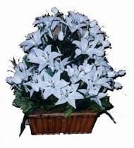 yapay karisik çiçek sepeti   Tekirdağ cicekciler , cicek siparisi