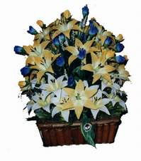 yapay karisik çiçek sepeti   Tekirdağ çiçek satışı
