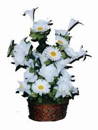 yapay karisik çiçek sepeti  Tekirdağ cicek , cicekci