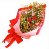 12 adet renkli  gül buketi   Tekirdağ internetten çiçek satışı