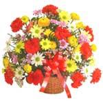 karisik renkli çiçek sepet   Tekirdağ çiçek gönderme