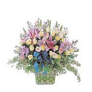sepette kazablanka ve güller   Tekirdağ çiçek satışı