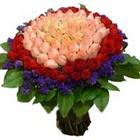 71 adet renkli gül buketi   Tekirdağ çiçekçi mağazası