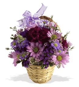 Tekirdağ anneler günü çiçek yolla  sepet içerisinde krizantem çiçekleri