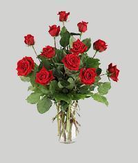Tekirdağ 14 şubat sevgililer günü çiçek  11 adet kirmizi gül vazo halinde