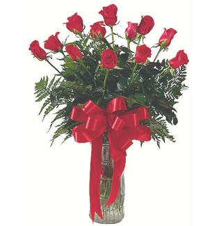 12 adet gül cam içerisinde  Tekirdağ 14 şubat sevgililer günü çiçek