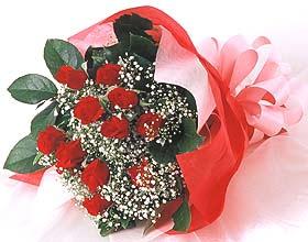12 adet kirmizi gül buketi  Tekirdağ uluslararası çiçek gönderme