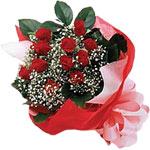 Tekirdağ internetten çiçek siparişi  KIRMIZI AMBALAJ BUKETINDE 12 ADET GÜL