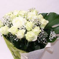 Tekirdağ çiçek siparişi sitesi  11 adet sade beyaz gül buketi