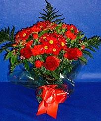 Tekirdağ çiçek siparişi sitesi  3 adet kirmizi gül ve kir çiçekleri buketi