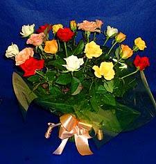 Tekirdağ çiçek siparişi sitesi  13 adet karisik renkli güller
