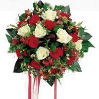 Tekirdağ çiçekçi mağazası  6 adet kirmizi 6 adet beyaz ve kir çiçekleri buket