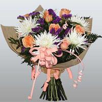 güller ve kir çiçekleri demeti   Tekirdağ çiçek siparişi vermek
