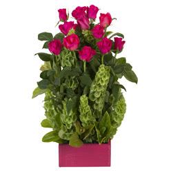 12 adet kirmizi gül aranjmani  Tekirdağ güvenli kaliteli hızlı çiçek