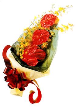 özel 5 adet antorium buketi   Tekirdağ çiçek gönderme