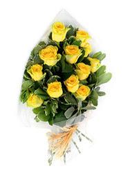 Tekirdağ online çiçekçi , çiçek siparişi  12 li sari gül buketi.