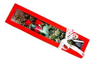 Tekirdağ çiçek siparişi sitesi  Kutuda 3 adet gül