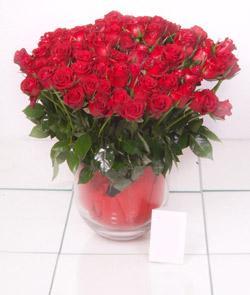 Tekirdağ uluslararası çiçek gönderme  101 adet kirmizi gül